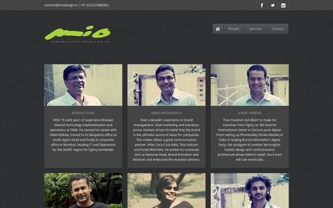 Screenshot of Team Page miodesign.in - People - captured Oct. 7, 2014
