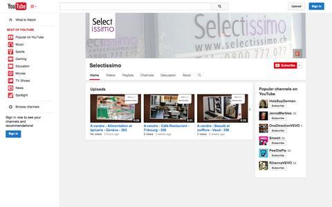Screenshot of YouTube Page youtube.com - Selectissimo  - YouTube - captured Oct. 22, 2014