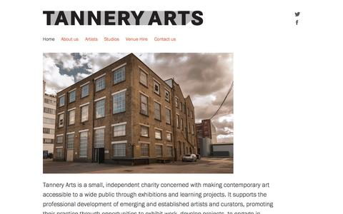 Screenshot of Home Page tanneryarts.org.uk - Tannery Arts - captured Oct. 8, 2015