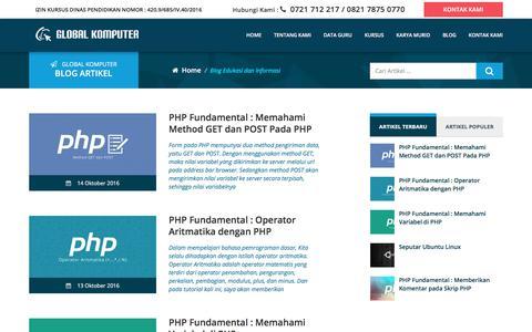 Screenshot of Blog global-komputer.com - GLOBAL KOMPUTER   Blog Edukasi dan Informasi - captured Jan. 31, 2018