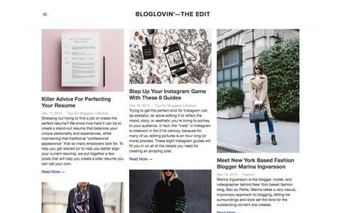 Screenshot of Blog bloglovin.com - Bloglovin'—the Edit - captured Dec. 17, 2015