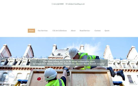 Screenshot of Home Page art-handling.co.uk - Art Handling - Art Transport, Art Shipping, Art storage, Art Installation - captured Dec. 26, 2015