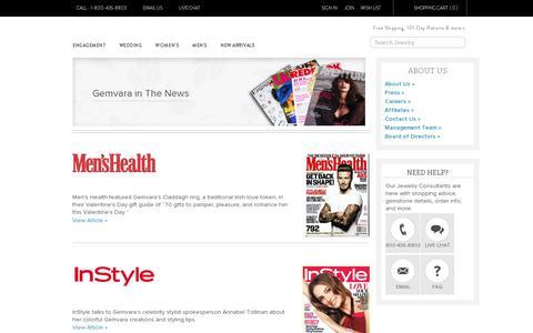 Screenshot of Press Page gemvara.com - Gemvara in The News | Gemvara | Gemvara - captured July 19, 2014