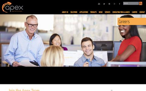 Screenshot of Jobs Page apexsupplychain.com - Careers - Apex Supply Chain Solutions - captured March 1, 2016