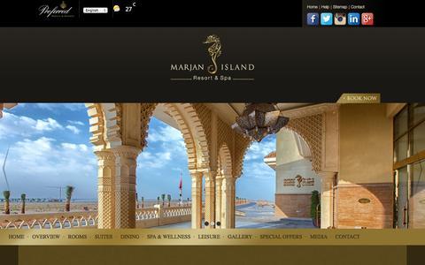 Screenshot of Privacy Page marjanislandresort.com - Privacy Policy   Marjan Island Resort & Spa - captured Oct. 27, 2014