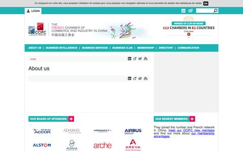 Screenshot of About Page ccifc.org - About us | The French Chamber of Commerce and Industry in China - captured Sept. 24, 2014