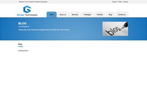 Screenshot of Blog FAQ Page Site Map Page glimsys.com - Welcome To Glimsys Technologies Pvt. Ltd. - captured Oct. 22, 2014