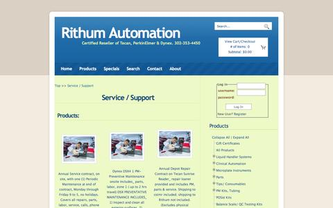 Screenshot of Support Page rithumautomation.com - Service / Support - all - Rithum Automation - captured Oct. 7, 2014