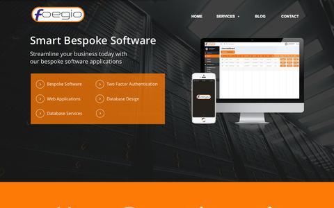 Screenshot of Home Page foegio.com - Software Developers Coventry & Warwickshire - Foegio - captured Aug. 3, 2015