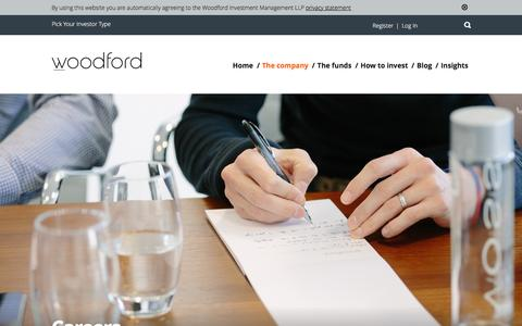 Screenshot of Jobs Page woodfordfunds.com - Careers - Woodford Investment Management LLP - captured Jan. 19, 2016