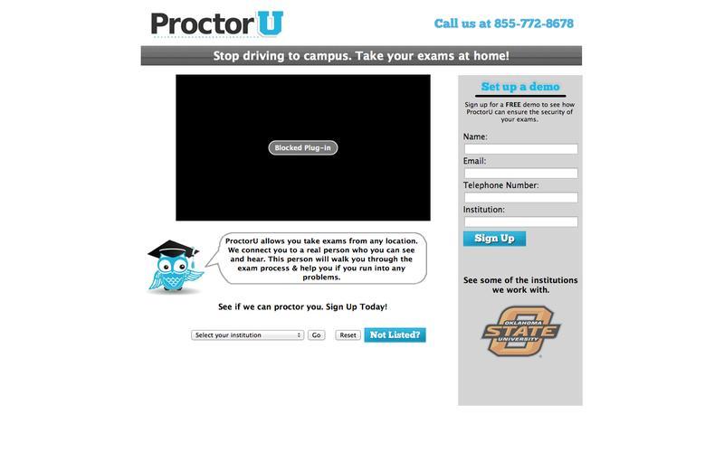 Online Proctoring with ProctorU