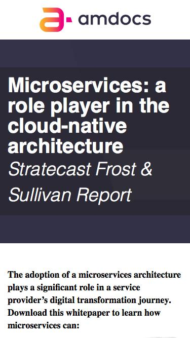 Amdocs DigitalONE - Microservices: A game-changer in cloud-native architecture