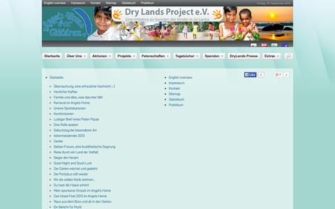Screenshot of Site Map Page dry-lands.org - Dry Lands Project e.V. - Sitemap einsehen - captured Sept. 19, 2014