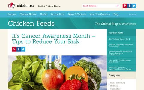 Screenshot of Blog chicken.ca - Chicken Feeds » Chicken.ca - captured Sept. 19, 2014