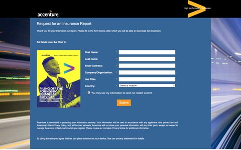 Screenshot of Landing Page accenture.com - Piling off the Pounds in Financial Services - captured March 23, 2017