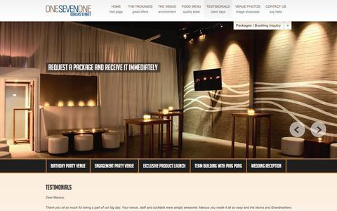Screenshot of Testimonials Page onesevenone.com.au - One Seven One :   Testimonials - captured Feb. 17, 2016