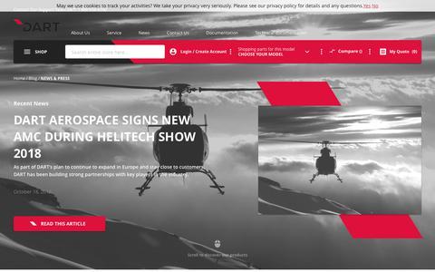 Screenshot of Blog Press Page dartaerospace.com - News & Press | DART Aerospace - captured Nov. 6, 2018
