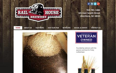Screenshot of Menu Page railhousebrewery.com - Railhouse Brewery - captured Aug. 16, 2015