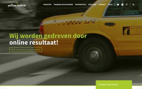 Screenshot of Home Page Menu Page yellow-online.nl - Online Marketing Bureau in Eindhoven  | Yellow-online - captured Jan. 17, 2017