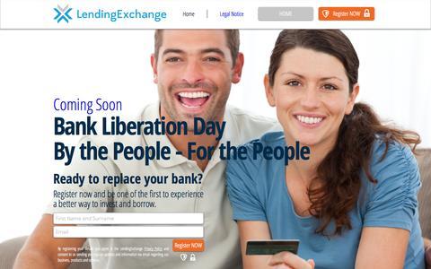 Screenshot of Home Page lendingexchange.com - Lending Exchange / Marketplace Lender / Australia - captured Oct. 2, 2014