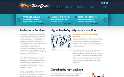 Screenshot of Services Page wavecentric.com - WaveCentric Provides Targeted Marketing Solutions That Produce Stronger Results - captured Oct. 7, 2014