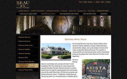 Sonoma Wine Tours - Luxury Private Wine Tasting - Limousine Tour