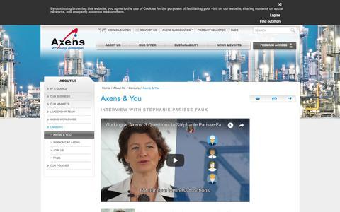 Screenshot of Jobs Page axens.net - Axens & You - captured Oct. 24, 2017