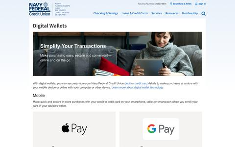 Digital Wallets | Navy Federal Credit Union