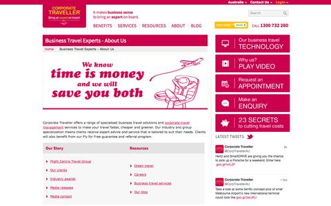 Screenshot of About Page corporatetraveller.com.au - Business Travel Experts - About Us   Corporate Traveller - captured Oct. 3, 2014