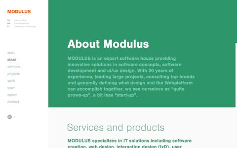 Screenshot of About Page modulus.eu - Software House MODULUS: web design, UX Design, UI Design, web application, custom software development - captured Dec. 1, 2016