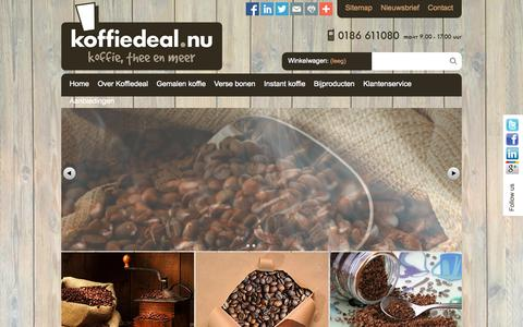 Screenshot of Home Page koffiedeal.nu - Homepage - Koffiedeal.nu - captured Sept. 30, 2014
