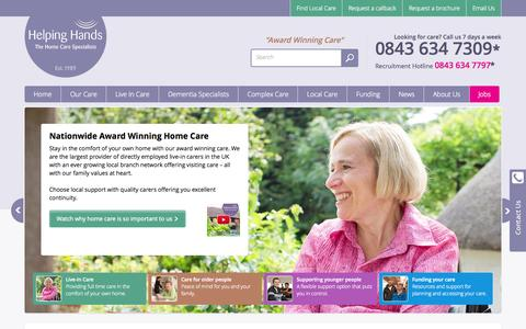 Screenshot of Site Map Page helpinghandshomecare.co.uk - Live-in Care & Hourly Care - Helping Hands Home Care - captured July 3, 2015