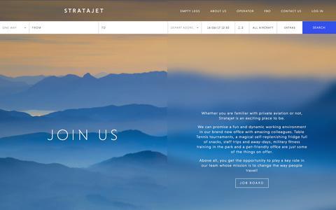 Screenshot of Jobs Page stratajet.com - Stratajet Jobs & Career Vacancies | Join Our Team - captured June 14, 2017