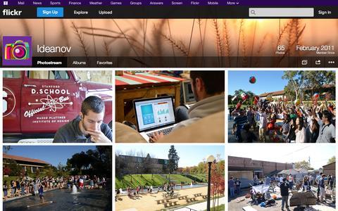 Screenshot of Flickr Page flickr.com - Flickr: Ideanov's Photostream - captured Oct. 23, 2014