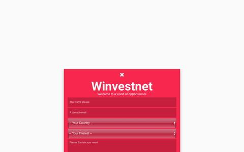 Screenshot of Signup Page winvestnet.com - Winvestnet - Join Free Now - captured June 19, 2017