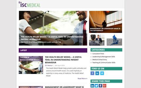 Screenshot of Blog medical-interviews.co.uk - ISC Medical Blog – Medical Interviews, Leadership, Management, Teaching and Communication - captured Dec. 19, 2018