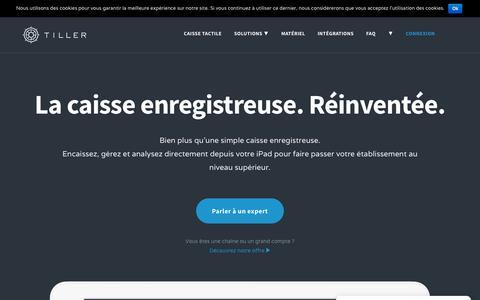 Screenshot of Home Page tillersystems.com - La caisse enregistreuse tactile sur iPad n°1 en France - Tiller - captured Sept. 21, 2018