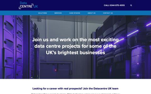 Screenshot of Jobs Page datacentre-uk.com - About Us - Careers — Datacentre UK - captured Aug. 5, 2018