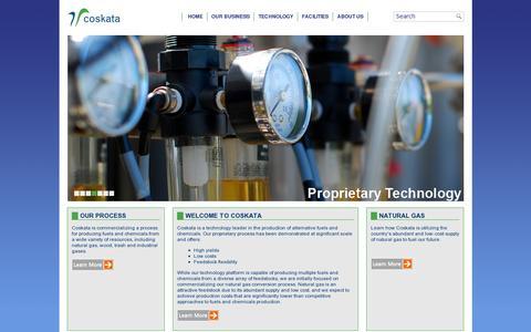 Screenshot of Home Page coskata.com - Coskata, Inc. - captured July 11, 2014