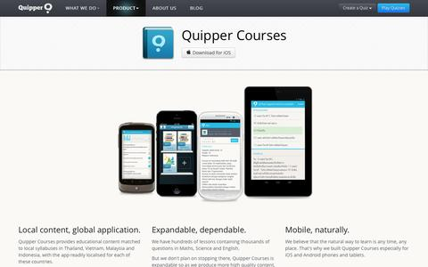 Screenshot of Products Page quipper.com - Quipper Courses - captured Sept. 17, 2014