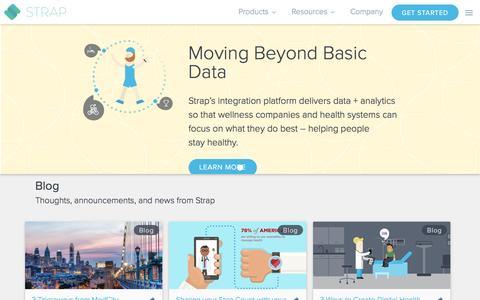 Screenshot of Blog straphq.com - Resources - captured Jan. 26, 2017