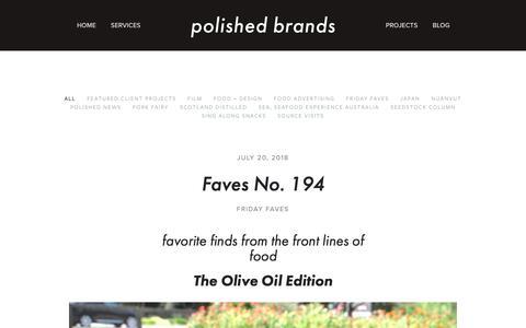 Screenshot of Blog polished-brands.com - Blog — Polished Brands - captured Sept. 28, 2018