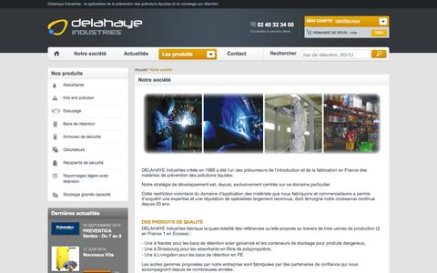 Screenshot of About Page delahaye-industries.fr - Notre société - captured Sept. 30, 2014