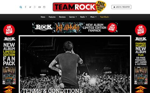 Screenshot of Terms Page teamrock.com - TeamRock - captured Nov. 23, 2015