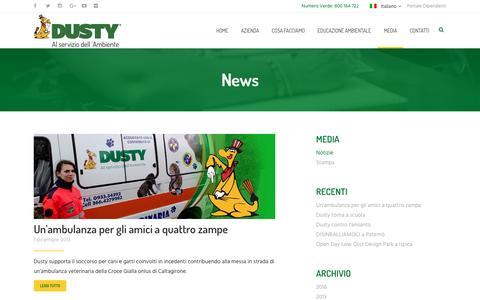 Screenshot of Press Page dusty.it - News - Dusty - captured Nov. 24, 2016
