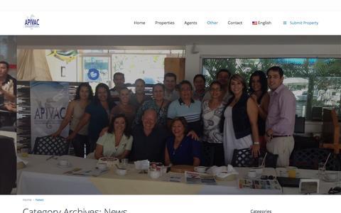 Screenshot of Press Page apivac.com - News | APIVAC – Asociación de Profesionales Inmobiliarios de Puerto Vallarta, Jalisco. - captured March 15, 2016