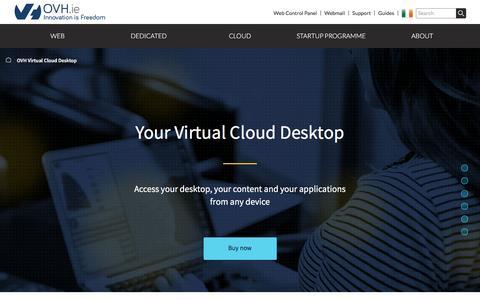 Screenshot of Case Studies Page ovh.ie - Virtual Cloud Desktop | your turnkey virtual desktop solution- OVH - captured Aug. 21, 2016