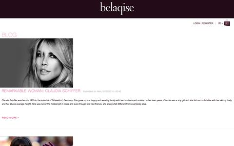 Screenshot of Blog belaqise.com - Blog | Belaqise Couture Innovant - captured Sept. 30, 2014