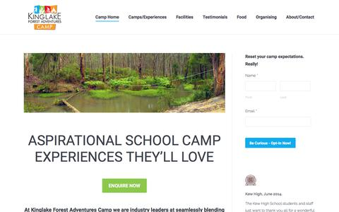 Screenshot of Home Page krwc.com.au - KFA Camp Leadership Wellbeing Resilience close to Melbourne for School group accommodation conference retreat teambuilding offsites Victoria Yarra Valley - captured Oct. 17, 2017