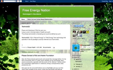 Screenshot of Home Page Press Page fenation.blogspot.ca - Free Energy Nation - captured Sept. 30, 2014